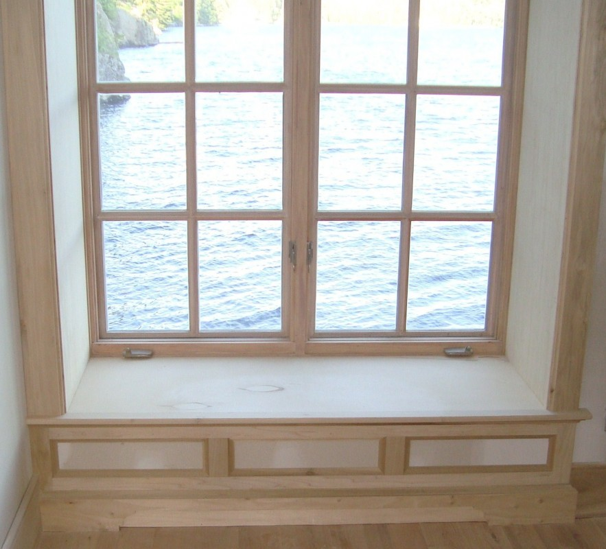 custom window sills custom oak window sill northeast custom carpentry solid oak window. Black Bedroom Furniture Sets. Home Design Ideas